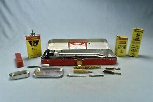 Vintage OUTERS PISTOL CLEANING KIT #479 METAL CASE CARDBOARD SLEEVE #02039