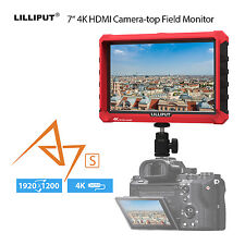 "Lilliput A7S 7"" Loop Output HDMI DSLR Camera Field Monitor Fr Canon DJI SONY ST5"