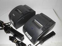 2 EPSON TM-U220D M188D Dot Matrix  POS Receipt Printer Parallel w power supply's