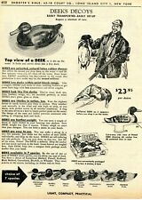 1962 Print Ad of Deeks Duck Decoy greenhead mallard bluebill pintail canvasback