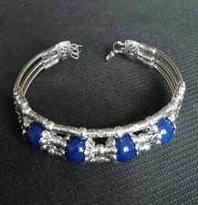 Ladies Jewelry Tibetan Silver Bangle Lapis Lazuli Woman Bracelet Jewellry