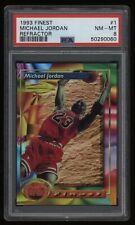 1993-94 Michael Jordan PSA 8 Topps Finest Refractor #1 *NICE* Invest NOW