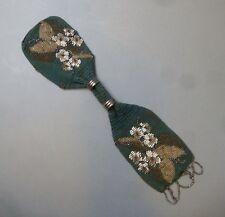Geldkatze Geldbeutel Perlentasche Perlenbeutel Glasperlen Stickerei  um 1840