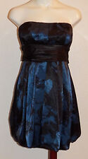 NWT Speechless Strapless Blue Black Dress Juniors Size 5 Short Prom Formal