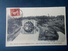 M163. Cpa. 39. Lons le Saunier. Ligne de St Jean de Losne. Le Pont du Gravier.