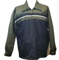Vintage 80s Bullhead Jacket Mens XL Snowboarding Nylon Fleece Lined