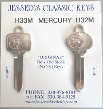 Rare 1968 1969 Mercury Cougar NOS New Old Stock Original Nickel Messenger Keys
