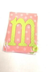 """Lowercase m Monogram Magnet Letter 5"""" craft supply craft supply educational"""