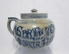 Blue & White Stoneware Boston Baked Beans Pot - Spirit of '76 - Whites Utica