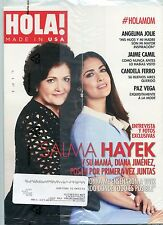 Hola May June 2017 Salma Hayek Diana Jimenez Angelina Jolie Paz Vega FREE SHIP!