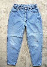 Womens Vintage LEE Mom Jeans Very High waist Tapered leg Light wash Size W32 L27
