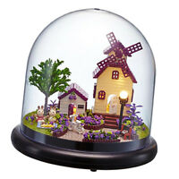 Dolls House Winnower DIY Handcraft Miniature Project Kit with Glass Cover