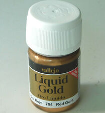 Vallejo Synthethic Resin Acrylic Model Paint Liquid RED GOLD 794 35ml 70.794
