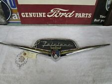1956 Ford Fairlane Trunk Emblem & Chrome Housing ( restored )