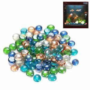 100g Glass Pebbles Beads Stones Fish Aquarium Round Beads Colorful Decoration/*