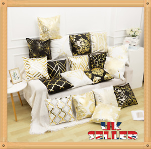 New 18 x18 inch GOLD POLYESTER CUSHION COVER PILLOW CASE HOME SOFA DECOR