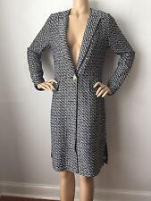 NWT St John Knit coat size 16 long topper tweed  wool rayon