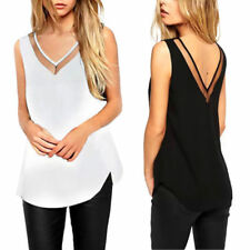 No Pattern V Neck Chiffon Tops & Shirts Plus Size for Women