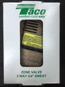 "TACO 571-2 2 WAY 3/4"" SWEAT ZONE VALVE NEW IN BOX FREE SHIPPING"