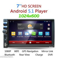 7'' HD Bluetooth Autoradio 2DIN Android GPS Coche Stereo MP5 Player 3G FM AM USB