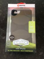 NEW GRIFFIN SURVIVOR MILITARY DUTY CASE COVER BELT CLIP FOR IPHONE 7/8 UK
