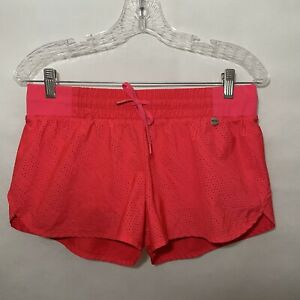 Lorna Jane Womens Running Shorts Mesh Lined With Spandex Shorts Coral Pink Small