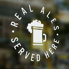 x1 Real Ales Served Here, Sticker, Pub, Coffee Shop , Bar, Cafe, Restaurant,