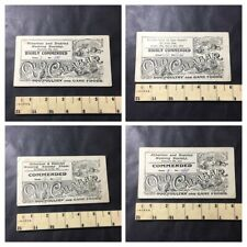 1911 & 1912 Atherton & District Homing Pigeon Society Show Advertising Cards