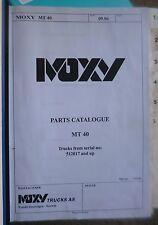MOXY DUMPER mx40 Spare Parts Catalogue