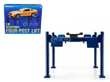 FOUR POST LIFT BLUE 1/18 SCALE RAISES & LOWERS GREENLIGHT 12884