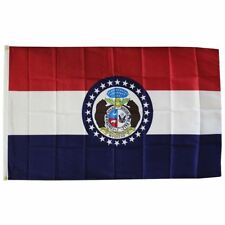 New listing Missouri State Flag Size 3 X 5 Feet Polyester New Show Me State Free Shipping