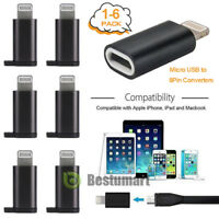 6Pcs Micro USB to 8Pin Adapter Converters Fast Charge Convert for Android iPhone