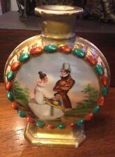 Hand Painted Signed France Gold Trim Portrait Scenic Old Paris Porcelain Vase