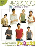 Berroco 223 Multiple Choice 7 Designs in 3 Different Yarns Knitting Patterns