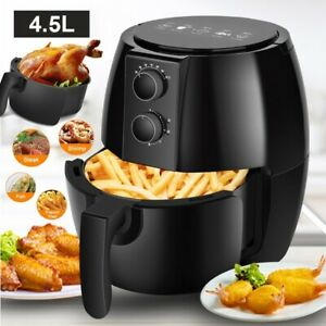 Air Fryer 4.5L Cooker Oven Low Fat Healthy Oil Free Food Frying Kitchen 1350W UK