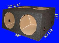 """4 FOUR HOLE 12"""" CHAMBERED GREY SUBWOOFER SUB SPEAKER ENCLOSURE BOX"""