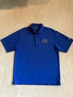 Men's NIKE Golf Fit Dry Florida Gators Blue Short Sleeve Shirt - Size M