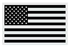"""Black American Flag Large Reflective Window Decal Sticker 4"""" tall X 6"""" wide"""