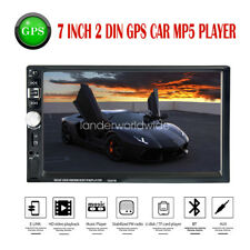 "7"" HD Car Radio Stereo MP5 Player Bluetooth GPS Navigation AUX SD Touch Screen"