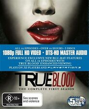 True Blood : Season 1 (Blu-ray, 2010, 5-Disc Set)