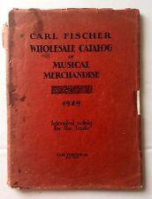 1929 Carl Fischer Musical Instrument and Musical Merchandise Catalog