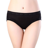Women's Briefs Cotton Bamboo Underwear Large Size Solid Soft Panties Undepants