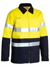BISLEY WORKWEAR 2 TONE HI VIS DRILL JACKET 3M REFLECTIVE TAPE (BK6710T)