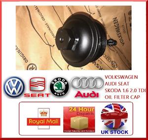 OIL FILTER CAP COVER VW AUDI SEAT SKODA 1.6 2.0 TDI 03L 115 433