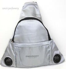 DAVIDOFF PARFUMS GENERIC MENS GREY BACKPACK WITH BUILT IN SPEAKERS *NEW