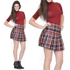 Unbranded Cotton Blend Checked Skirts for Women