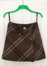 Ladies Next Tailoring Brown Check Mini Skirt Lined UK 8