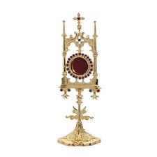1631 Reliquiar Reliquie Monstranz Hausaltar mit Steinen rund 31cm NEU