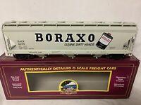 ✅MTH PREMIER BORAXO 3 BAY CENTERFLOW COVERED HOPPER 20-97870! FOR O SCALE SET