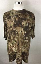 Kryptek Stalker T Shirt XXL/2XL Hunting Camouflage Camo Short Sleeve Patches